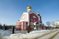 Church of the Holy Martyrs Faith, Hope, Charity and their mother. Sophia in Obninsk, Kaluga region, Russia Royalty Free Stock Image
