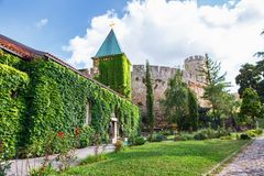 Church of the Holy Mother of God Crkva Ruzica in Belgrade Fortress or Beogradska Tvrdjava. Consists of the old citadel and Kalemegdan Park on the confluence of Royalty Free Stock Image