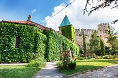 Church of the Holy Mother of God Crkva Ruzica in Belgrade Fortress or Beogradska Tvrdjava. Consists of the old citadel and Kalemegdan Park on the confluence of Royalty Free Stock Images
