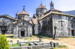 Church of the Holy Mother of God  on the territory of the monastery of Haghpat Royalty Free Stock Photos