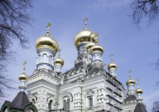 The Church of Holy Protection Convent in Kiev Royalty Free Stock Photo