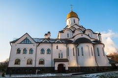 Church of the Holy Reverend Prince Alexander Nevsky at Moscow State Institute of International RelationsMGIMO. Russia. The Church was established by the idea of Stock Images