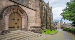 Church of the Holy Rude, medieval parish church of Stirling, Scotland. Stirling is a city in central Scotland. At the heart of its old town, medieval Stirling royalty free stock image