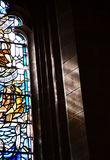 Church of the Holy Rude - Stained Glass Window Royalty Free Stock Photo
