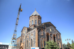 Church of the Holy Saviour being reconstructed after the 1988 earthquake. Stock Photo