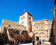 The Church of Holy Sepulcher in Jerusalem Royalty Free Stock Photos