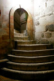 Church of the Holy Sepulcher, Jerusalem, Israel. Stairs to Golgotha in the Holy Sepulcher, Jerusalem, Israel Stock Image