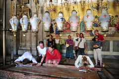 Church of the Holy Sepulcher in the Jerusalem Israel Stock Image