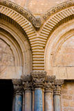 Church of the Holy Sepulchre. Main Entrance to the Church of the Holy Sepulchre, detail Stock Photos