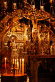 Church of the Holy Sepulchre. Altar in the Church of the Holy Sepulchre in Jerusalem, Israel Royalty Free Stock Photos
