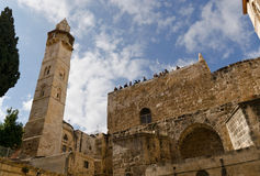 Church of the Holy Sepulchre. People observation point of the Church of the Holy Sepulchre royalty free stock image