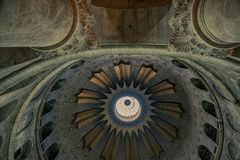 Church of the Holy Sepulchre. Cupola of the church of the holy Sepulchre in Jerusalem, Israel Stock Images
