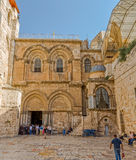 Church of the Holy Sepulchre entrance Stock Image