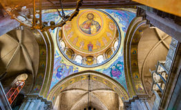 The Church of the Holy Sepulchre - Jerusalem. Interior of the Church of the Holy Sepulchre - Jerusalem, Israel stock images
