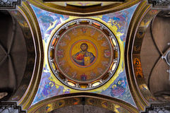 Church of the Holy Sepulchre, Jerusalem Israel. Christ Pantocrator in the Church of the Holy Sepulchre, Jerusalem Israel Royalty Free Stock Photography