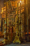 In Church of Holy Sepulchre stock photography