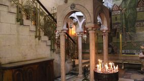 Church of the Holy Sepulchre in Jerusalem, Israel stock video