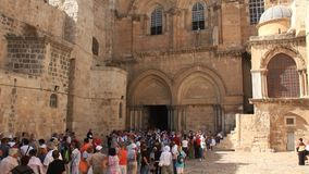 Church of the Holy Sepulchre in Jerusalem, Israel stock video footage