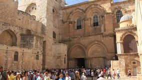 Church of the Holy Sepulchre in Jerusalem, Israel stock footage