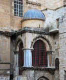 Fragment of the Church of the Holy Sepulchre. The Church of the Holy Sepulchre. Old City of Jerusalem Royalty Free Stock Photo