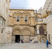 Church of the Holy Sepulchre Panorama stock photography