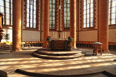 Church of the Holy Spirit interior. Heidelberg Royalty Free Stock Images