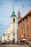 Church of the Holy Spirit and Old Town Hall in Torun Royalty Free Stock Image