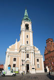 Church of the Holy Spirit and Old Town Hall in Torun Stock Image