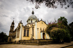The church of the Holy Trinity, Addis Ababa. The Holy Trinity Cathedral in Addis Abeba, Ethiopia. Here is the tomb of the emperor Haile Salassie royalty free stock image