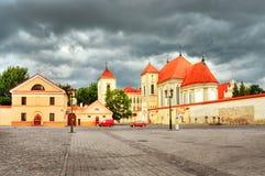 Church of Holy Trinity as part of Priest Seminary in Kaunas stock image