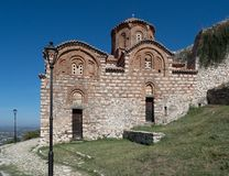 Church of the Holy Trinity with Cobblestone Path in Berat Fortress