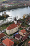 Church of Holy Trinity in Hrvatska Dubica, Croatia. Parish Church of Holy Trinity in Hrvatska Dubica, Croatia Stock Image