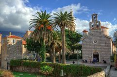Free Church Holy Trinity In Old Town Budva, Montenegro Royalty Free Stock Images - 138978229
