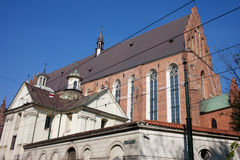 Church of the Holy Trinity in Krakow Royalty Free Stock Photography