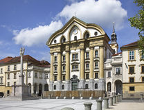 Church of the Holy Trinity in Ljubljana. Slovenija Royalty Free Stock Photo