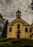 Church of Holy Trinity in Lomza. Rektoralny church belonging to convent of Benedictine nuns. It belongs to deanery Lomza - St. Michael Diocese of Lomza royalty free stock photo