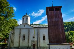 Church of the Holy Trinity in Nova Varos in Serbia. Nova Varos, Serbia August 03, 2017: Church of the Holy Trinity in Nova Varos in Serbia Stock Photos