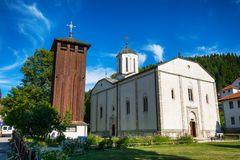 Church of the Holy Trinity in Nova Varos in Serbia. Nova Varos, Serbia August 03, 2017: Church of the Holy Trinity in Nova Varos in Serbia Stock Photography