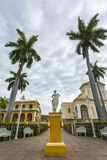 The Church of the Holy Trinity in Plaza Major in Trinidad royalty free stock photo