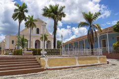 Church of the Holy Trinity in Trinidad, Cuba. The Church of the Holy Trinity is situated in Plaza Mayor, in the UNESCO World Heritage city of Trinidad, Cuba stock photography
