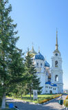 Church of the Holy Trinity under a cloudless blue sky on a sunny summer day Stock Images