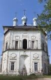 Church of the Holy Trinity in the village Shelota, Verhovazhskogo district, Vologda region Royalty Free Stock Photos