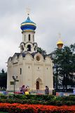 Church in honor of the Descent of the Holy Spirit to the Apostles. SERGIEV POSAD, RUSSIA - AUGUST 24, 2016: Trinity Sergius Lavra monastery. Popular touristic Stock Images