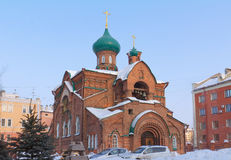 Church in honor of Kazan icon of Mother of God Royalty Free Stock Images