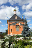 Church in honour of the Tranfiguration in Optina Monastery, Russia. Optina Pustyn is an orthodox monastery for men in Kaluga region near city Kozelsk, Russia Stock Photography