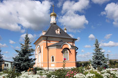 Church in honour of the Tranfiguration in Optina Monastery, Russia. Optina Pustyn is an orthodox monastery for men in Kaluga region near city Kozelsk, Russia Royalty Free Stock Images