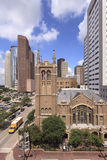 Church in Houston downtown Stock Photography