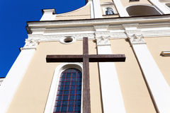Church in Hrodna. Catholic church of the Discovery of the Holy Cross and the Monastery of Bernardine. Grodno. Belarus. Construction years 1595-1618 Royalty Free Stock Images