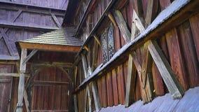 Church Hronsek, Slovakia, UNESCO stock video