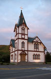 Church in Husavik Northern Iceland Royalty Free Stock Photo